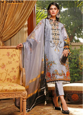 Marjaan by Sifona Embroidered Lawn Unstitched 3 Piece Suit MJ20SF 08 - Luxury Collection