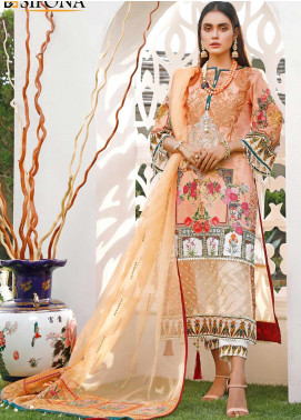 Marjaan by Sifona Embroidered Lawn Unstitched 3 Piece Suit MJ20SF 09 - Luxury Collection
