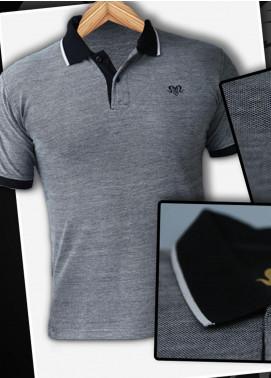 Markhor Clothing Cotton Casual Men Shirts - Black Black Color Pique Cotton Summer Polo Shirt