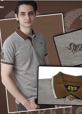 Markhor Clothing Cotton Casual Shirts for Men - Brown Brown Color Pique Cotton Summer Polo Shirt