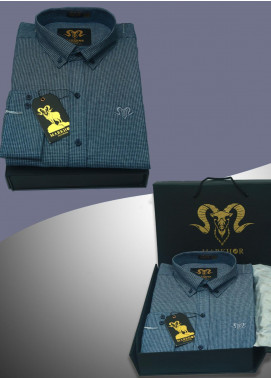 Markhor Clothing Denim Casual Men Shirts - Blue Blue Check Denim Casual Shirt For Men