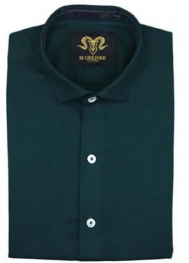 Markhor Clothing Chambray Cotton Formal Men Shirts - Crystal Green Royal  Chambray Cotton Slim Fit Formal Shirt