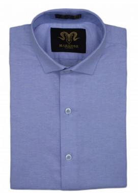 Markhor Clothing Chambray Cotton Formal Men Shirts - Violet Royal Chambray Cotton Slim Fit Formal Shirt
