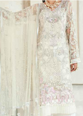 Marwa by Maryam Hussain Embroidered Net Unstitched 3 Piece Suit MRH20M 02 Daisy - Luxury Collection
