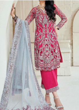 Marwa by Maryam Hussain Embroidered Net Unstitched 3 Piece Suit MRH20M 03 Melody - Luxury Collection