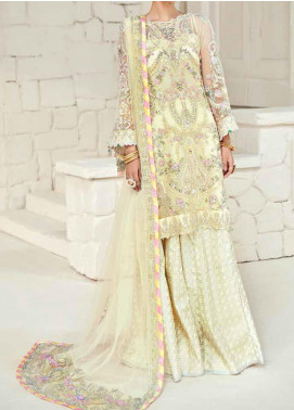 Marwa by Maryam Hussain Embroidered Net Unstitched 3 Piece Suit MRH20M 06 Sunscape - Luxury Collection