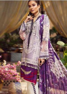 Maryam Hussain Embroidered Lawn Unstitched 3 Piece Suit MRH19F 03 NUR - Festive Collection