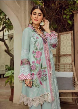 Maryam Hussain Embroidered Lawn Unstitched 3 Piece Suit MRH20F D-02 FRENCH KNOT - Festive Collection