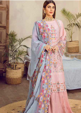 Maryam Hussain Embroidered Lawn Unstitched 3 Piece Suit MRH20F D-04 DIMPL - Festive Collection