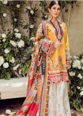 Maryam Hussain Embroidered Lawn Unstitched 3 Piece Suit MRH20F D-05 KESAR - Festive Collection