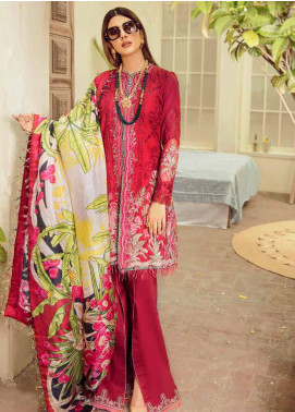 Maryam Hussain Embroidered Lawn Unstitched 3 Piece Suit MRH20F D-06 GULAB - Festive Collection