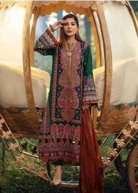 Maryam Hussain Embroidered Karandi Unstitched 3 Piece Suit MRH20W 02 EMRALD - Winter Collection