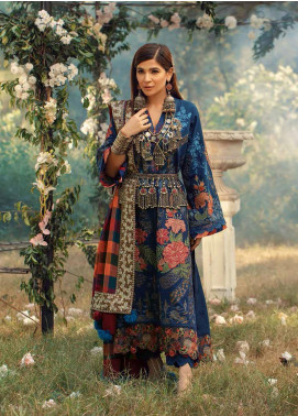 Maryam Hussain Embroidered Khaddar Unstitched 3 Piece Suit MRH20W 03 MARINA - Winter Collection