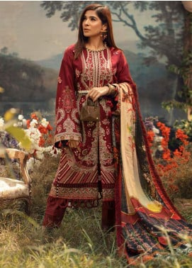 Maryam Hussain Embroidered Karandi Unstitched 3 Piece Suit MRH20W 04 FAUNA - Winter Collection