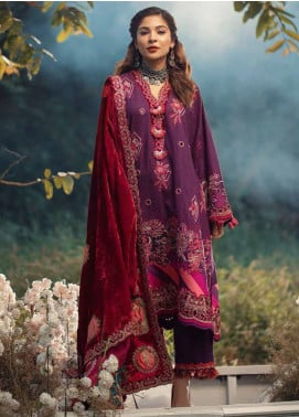 Maryam Hussain Embroidered Khaddar Unstitched 3 Piece Suit MRH20W 08 CAPRI - Winter Collection