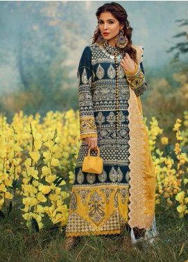 Maryam Hussain Embroidered Khaddar Unstitched 3 Piece Suit MRH20W 09 CASPER - Winter Collection