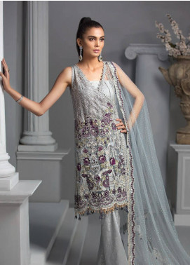 Maryam Hussain Embroidered Chiffon Unstitched 3 Piece Suit MRH19C 01 CHAARBAGH - Luxury Collection