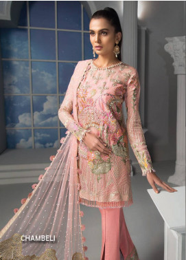 Maryam Hussain Embroidered Chiffon Unstitched 3 Piece Suit MRH19C 02 CHAMBELI - Luxury Collection