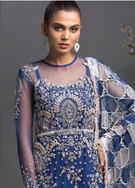 Maryam Hussain Embroidered Chiffon Unstitched 3 Piece Suit MRH19C 03 FALAK - Luxury Collection