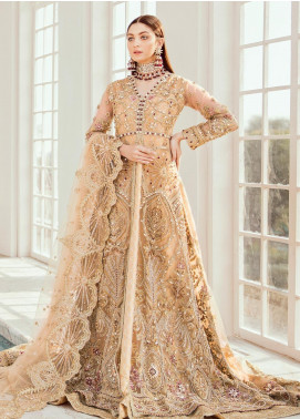 Maryum N Maria Embroidered Net Unstitched 2 Piece Suit MNM20B 01 Gilded Leaf - Bridal Collection