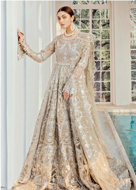Maryum N Maria Embroidered Net Unstitched 2 Piece Suit MNM20B 05 Moon Light - Bridal Collection
