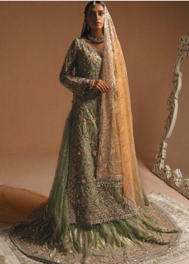 Maryum N Maria Embroidered Net Unstitched 3 Piece Suit MNM20HB 06 Tales Of The River - Bridal Collection