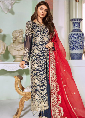 Maryum N Maria Embroidered Chiffon Unstitched 3 Piece Suit MNM20C 04 Dynat Lenys - Luxury Collection