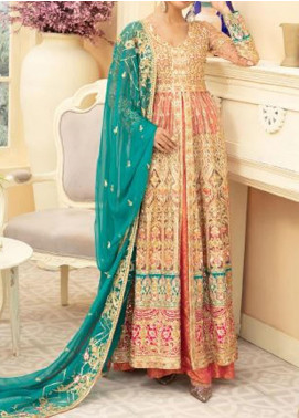 Maryum N Maria Embroidered Net Unstitched 3 Piece Suit MNM20C 05 LIMITIN CRIS - Premium Collection