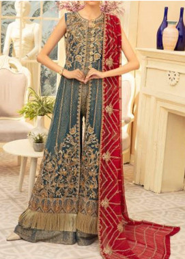 Maryum N Maria Embroidered Net Unstitched 3 Piece Suit MNM20C 06 MAGNITEZ - Premium Collection
