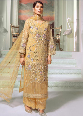 Maryum N Maria Embroidered Organza Unstitched 3 Piece Suit MNM20C 07 Dust Lyeh - Luxury Collection