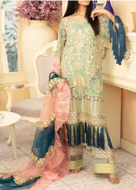 Maryum N Maria Embroidered Chiffon Unstitched 3 Piece Suit MNM20C 07 HENILLE JUSX - Premium Collection
