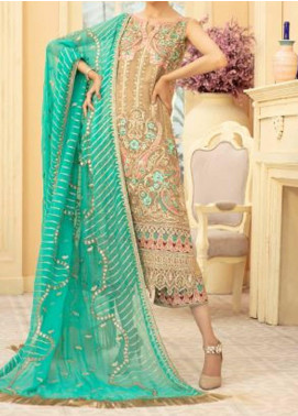 Maryum N Maria Embroidered Chiffon Unstitched 3 Piece Suit MNM20C 08 MELADIOUC ZALE - Premium Collection