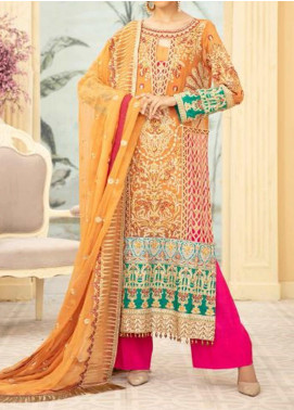 Maryum N Maria Embroidered Chiffon Unstitched 3 Piece Suit MNM20C 10 CHERIS MUDLLE - Premium Collection