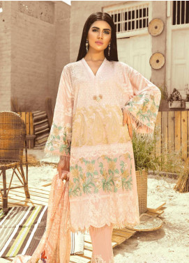 Maryum N Maria Embroidered Lawn Unstitched 3 Piece Suit MNM20L 01 PINK PESTELLE - Premium Collection