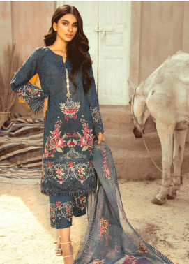 Maryum N Maria Embroidered Lawn Unstitched 3 Piece Suit MNM20L 06 NIGHT GALIE - Premium Collection