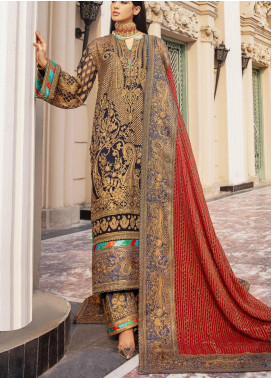 Maryum N Maria Embroidered Chiffon Unstitched 3 Piece Suit MNM20WD 07 Relentless Charism - Wedding Collection