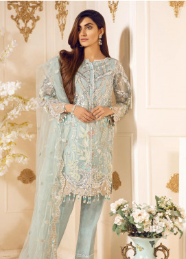 Mashq Embroidered Organza Unstitched 3 Piece Suit MAQ19C 2 SPLENDOR - Premium Collection
