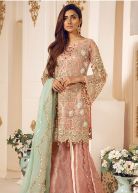Mashq Embroidered Net Unstitched 3 Piece Suit MAQ19C 4 SARMUD - Premium Collection