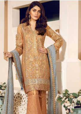 Mashq Embroidered Missouri Unstitched 3 Piece Suit MAQ19C 5 MARMALADE - Premium Collection