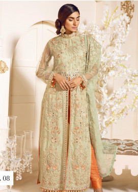 Mashq Embroidered Chiffon Unstitched 3 Piece Suit MAQ19C 8 DASIL LANGUE - Premium Collection