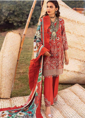 Maya by Nureh Embroidered Khaddar Unstitched 3 Piece Suit N20W 02 Dastaan - Winter Collection