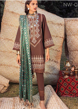 Maya by Nureh Embroidered Khaddar Unstitched 3 Piece Suit N20W 03 Mehar - Winter Collection
