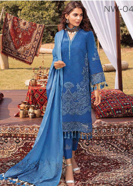 Maya by Nureh Embroidered Khaddar Unstitched 3 Piece Suit N20W 04 Umber - Winter Collection