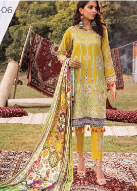 Maya by Nureh Embroidered Khaddar Unstitched 3 Piece Suit N20W 06 Gul - Winter Collection