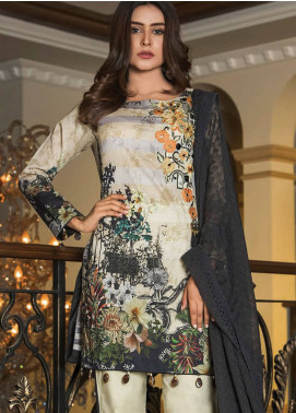 Maya by Noor Textile Embroidered Lawn Unstitched 3 Piece Suit MYN19L 02 - Spring / Summer Collection