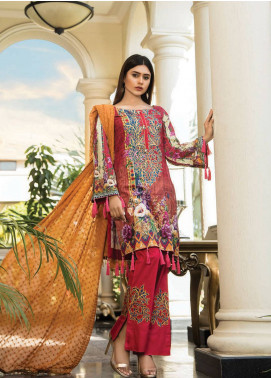 Maya by Noor Textile Embroidered Lawn Unstitched 3 Piece Suit MYN19L 03 - Spring / Summer Collection