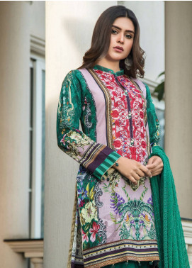 Maya by Noor Textile Embroidered Lawn Unstitched 3 Piece Suit MYN19L 04 - Spring / Summer Collection