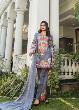 Maya by Noor Textile Embroidered Lawn Unstitched 3 Piece Suit MYN19L 07 - Spring / Summer Collection