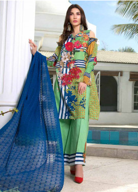 Maya by Noor Textiles Embroidered Lawn Unstitched 3 Piece Suit MYN19-L2 01 - Spring / Summer Collection