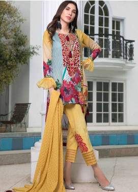 Maya by Noor Textiles Embroidered Lawn Unstitched 3 Piece Suit MYN19-L2 04 - Spring / Summer Collection
